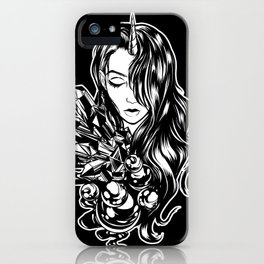 Dark Unicorn Girl iPhone Case