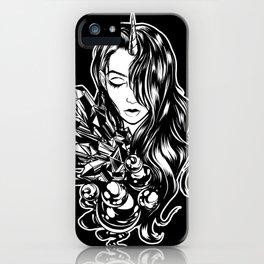 Dark Unicorn Girl iPhone Case