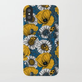 The meadow in yellow and blue iPhone Case