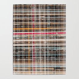 structure with red lines Poster