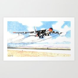 NB-52 with X-15 take-off Art Print