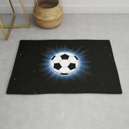 Spacey Soccer Ball Rug