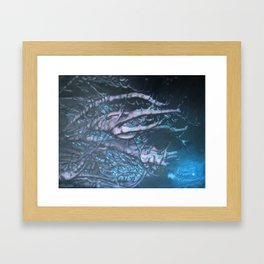 Snowy Branches_painting Framed Art Print