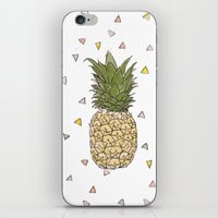 pinapple iPhone & iPod Skins featuring Pinapple by surfed