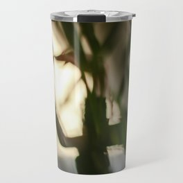 Dancing people, dance, shadows, hands and plants, blurred photography, dancer, forest, yoga Travel Mug