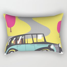vintage car cartoon Rectangular Pillow