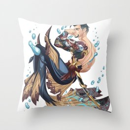 Merman Throw Pillow