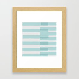Big Stripes In Turquoise Framed Art Print