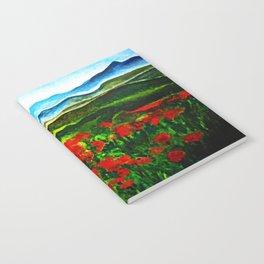 poppy field 2 Notebook