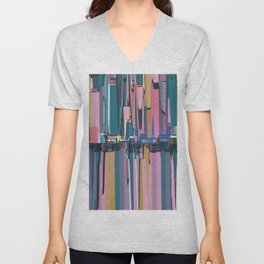 Abstract Composition 638 Unisex V-Neck