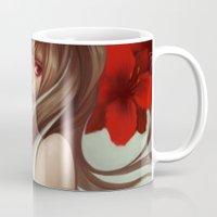 loish Mugs featuring Crimson petals by loish