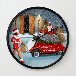 Santa Claus has got help Wall Clock