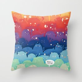 Cats Galore!  Throw Pillow
