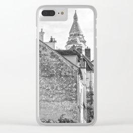 Sacre Coeur view Montmartre Paris Clear iPhone Case