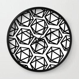 D20 Pattern Large Wall Clock