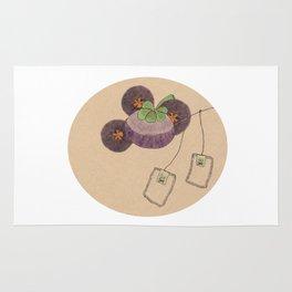 mangosteen & teabags Rug