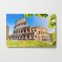 Roman Coliseum, Rome, Italy. Metal Print