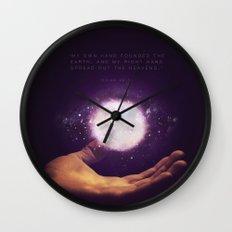 Isaiah 48:13 Wall Clock