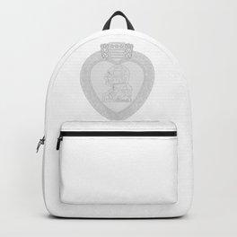 Purple Heart Medal Outline Backpack