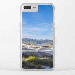 Mammoth Hot Springs, Yellowstone National Park 2 Clear iPhone Case