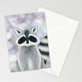 raccoon woodland animal portrait Stationery Cards