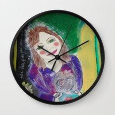 Self Love Portrait for Inner Peace  Wall Clock