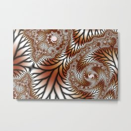 Tree Dance Fractal Metal Print
