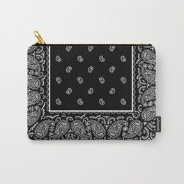 Classic Black Bandana Carry-All Pouch