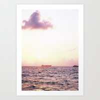Melancholic Ship Art Print