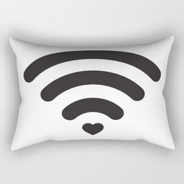 Love & WiFi - Black & White Rectangular Pillow