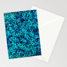 Teal leafs Stationery Cards