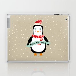 "Cute Penguin wishes ""Merry Christmas"" - X-mas Christmas Winter Design Laptop & iPad Skin"
