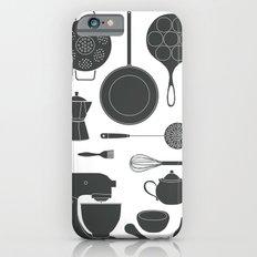 Kitchen Tools (black on white) Slim Case iPhone 6s