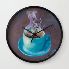 Hot Steamy Coffee Wall Clock