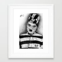 chaplin Framed Art Prints featuring Chaplin by D.E.Pérez