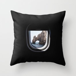 The Arch of Los Cabos from my seat Throw Pillow