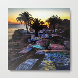 Ghetto by the Sea Metal Print