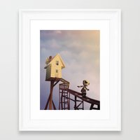 robots Framed Art Prints featuring robots by Alevan