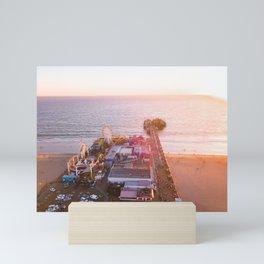Santa Monica Pier Sunset Mini Art Print