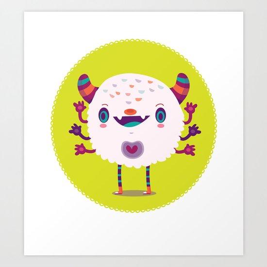 Puffy monster Art Print
