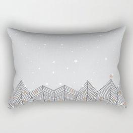 Winter Trees and Snow Rectangular Pillow