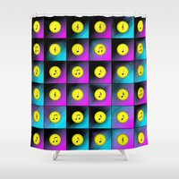 music notes Shower Curtains featuring Music notes by Gaspar Avila