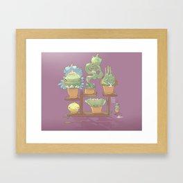 August's Plants Framed Art Print