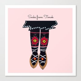 Socks from Timok, Serbia Canvas Print