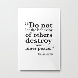 Quote 8 Metal Print