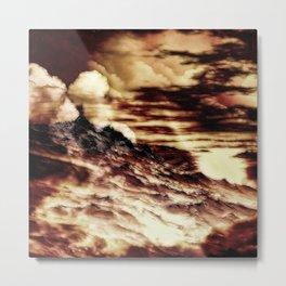 Nebel in den Bergen Metal Print