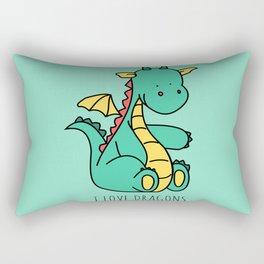 Sweet Little Dragon Rectangular Pillow
