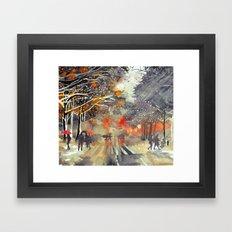 WINTER IN THE CITY Framed Art Print
