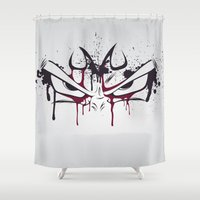 vegeta Shower Curtains featuring Majin Vegeta by freefallflow