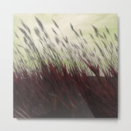 Field Grass Metal Print